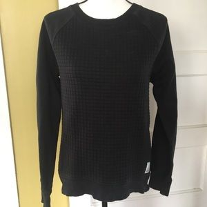 Reebok Quilted Crew Pullover Raglan Sweatshirt M